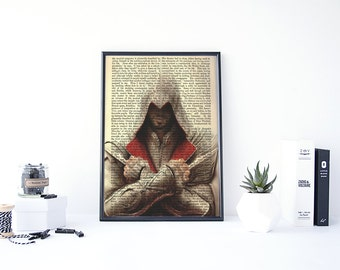 Assassins Creed Ezio, Altair, Assassin's Creed, Ubisoft, Assassins Creed Print Art, Video Game Posters, Gamer Gifts, For Him Gifts
