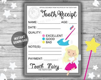 Tooth fairy letter etsy spiritdancerdesigns Choice Image