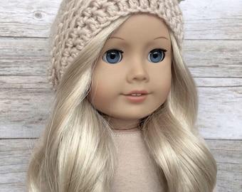 DIY Crochet Pattern – 18 inch Doll Slouchy Bear Hat PDF 22 (Fits American Girl Dolls) – Digital Download