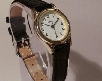 Limit Watch, Classic Womens Watch, Ladies Classic Watch, Black Leather Watch, Ladies Leather Watch, Retro Watch,  Womens Leather Watch
