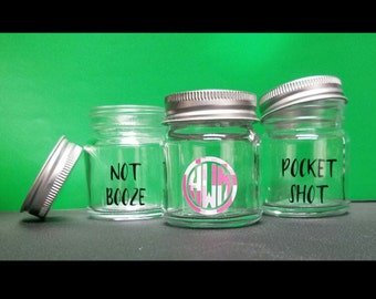 Mini Mason Jar Shot Glass with Lid