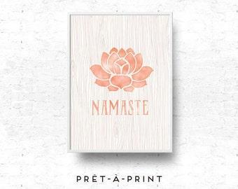 Namaste Art, Yoga Art, Meditation Print, Wall Art Print, Namaste, Inspiring Print, Printable Art -INSTANT DOWNLOAD-