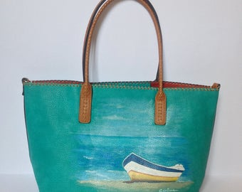 Turquoise boats bag