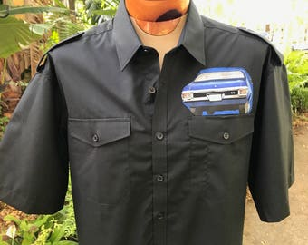 Muscle Car Shirt Classic Cars Vintage Cars Men's Gift Rare Fabric Size XL