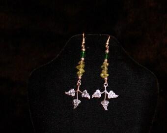 Stylish peridot earrings