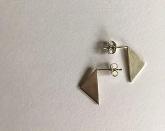 Planar Triangle Earrings
