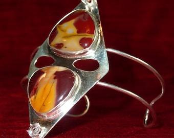 Mooklite Cabachon Wrist Cuff/ Bracelet