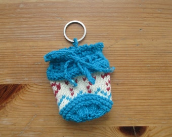 Doctor Who 7th Seventh Doctor Sylvester McCoy Inspired Handmade Question Mark Design Draw string Bag Knitted Coin purse Dice Bag Pouch