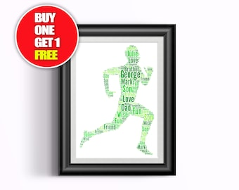 Running artwork,  running present, runner,  running word art