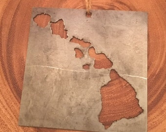 Items Similar To Hawaiian Island Chain Art Made From Koa