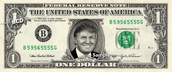 DONALD TRUMP our 45th President on a Real Dollar Bill Money Cash Collectible