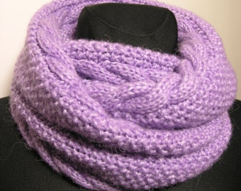 handmade knitted soft infinity scarf