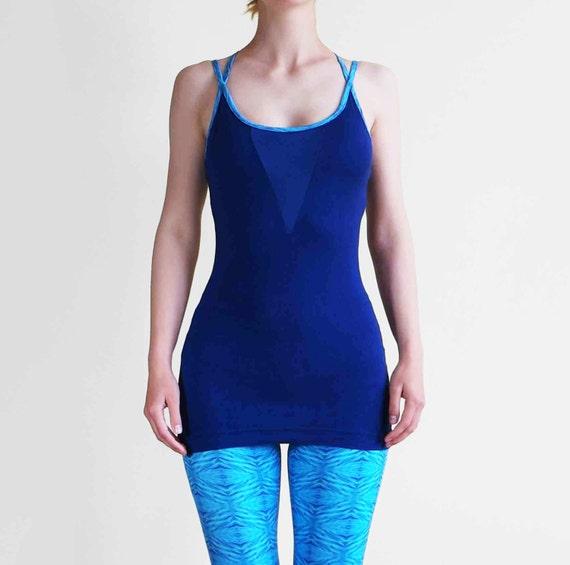 Items Similar To Lucent Yoga Top Vest, Cotton, Cross Strap