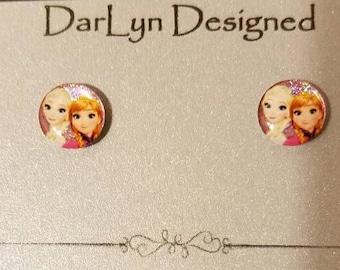 Elsa & Anna magnetic earrings!