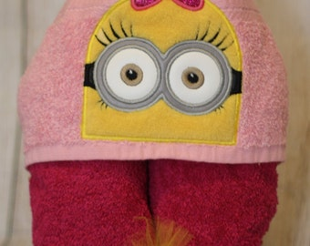 Yellow Follower Girl Marigold Hooded Towel - Toddler Towel - Kids Towel Wrap - Towel for Kids - Swim Towel - Girl Follower - READY TO SHIP