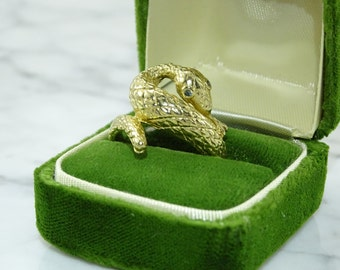 14k Gold Snake Ring size 11