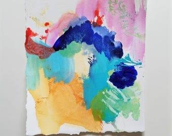 Small Original Abstract Watercolor Painting