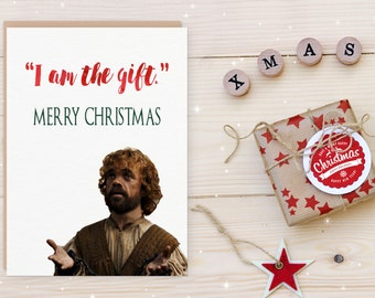 Game of Thrones Christmas Card Printable Lannister Xmas Card Funny Printable Holiday Card Husband Boyfriend Wife Girlfriend Instant Download