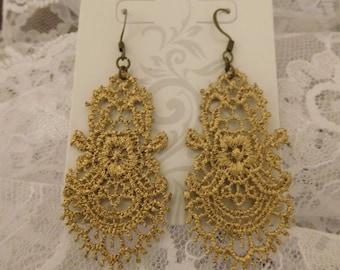 Golden Lace Earrings