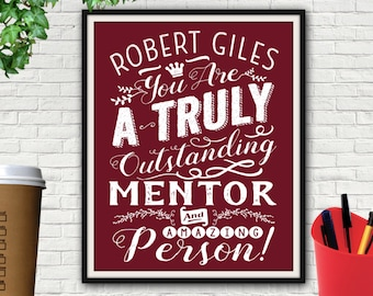 Custom Outstanding Mentor Print, Mentor, Mentor Gift, Thank You Gift For Mentor, Gift For Mentor, Mentor Teacher Gift, Mentor Teacher, Print