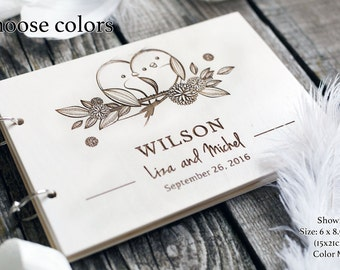 Rustic wedding guest book Unique wedding guestbooks Engraved Guest Book ideas Home guest book Custom GuestBook Hardcover