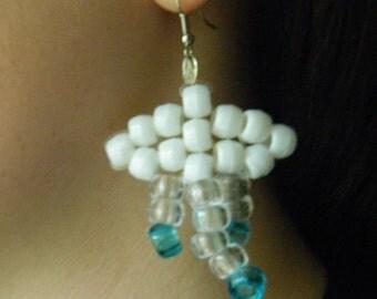 Cloud earrings Beaded earrings Beaded Clouds Raindrop Accessory