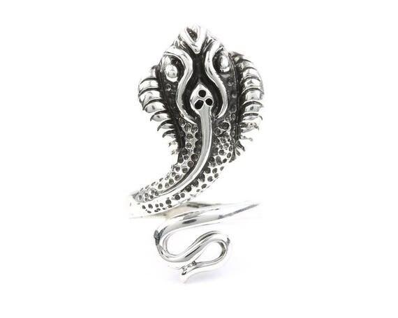 Sterling Silver Snake Ring, Cobra Ring, Biker Jewelry, Boho, Bohemian, Wicca, Gypsy, Festival Jewelry, Hippie Jewelry, Nature