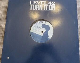 Vintage Level 42 Turn It On LP Record vinyl record album rare