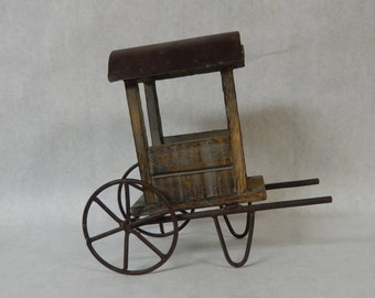 Small Decorative Farm Cart, Primitive Farmer's Market Cart