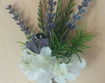 Rustic twine boutonniere