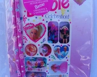 Vintage Barbie Note Paper Stationary Pack , Vintage 1992 Mattel Barbie Accessories , Barbie Stationary , Barbie Stickers , Barbie Pencils