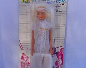 Vintage Lisa Anne Vacations Fashion Doll , 1988 Totsy Barbie Clone Doll , Tak-A-Toy 11.5 inch Fashion Doll , Bride Barbie Clone Bridal Doll