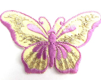 1930s vintage embroidered Butterfly applique Sewing supply Crazy quilt. #6A7GB8KF