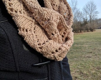 Handmade 100% Cotton Bricklayers Lace Cowl
