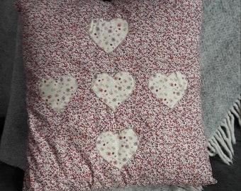 Ditsy Heart Cushion