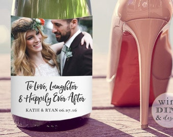 Wedding Champagne or Wine Label Label Favor Gift