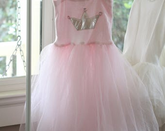Child Tutu Dress Antique Dress Up Pink Shabby Chic