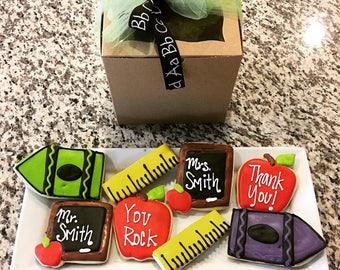 Teacher Apreciation Cookie Box