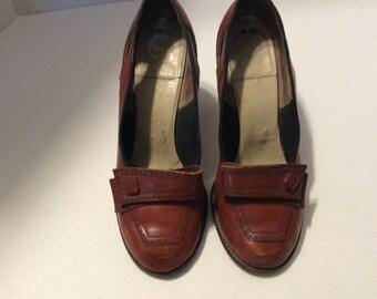 Vintage ladies high heels, ladies pumps, ladies leather pumps, 1940's shoes