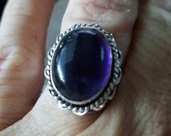 Purple Quartz Ring - size 8.5!