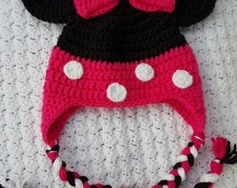 Crocheted Minnie Hat