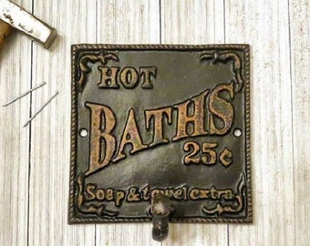 Bathroom Wall Decor, Bathroom Decor, Towel Hooks, Towel Holder, Kitchen  Decor,