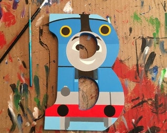 """Thomas the Train 9"""" Hand-Painted Wall Letters"""