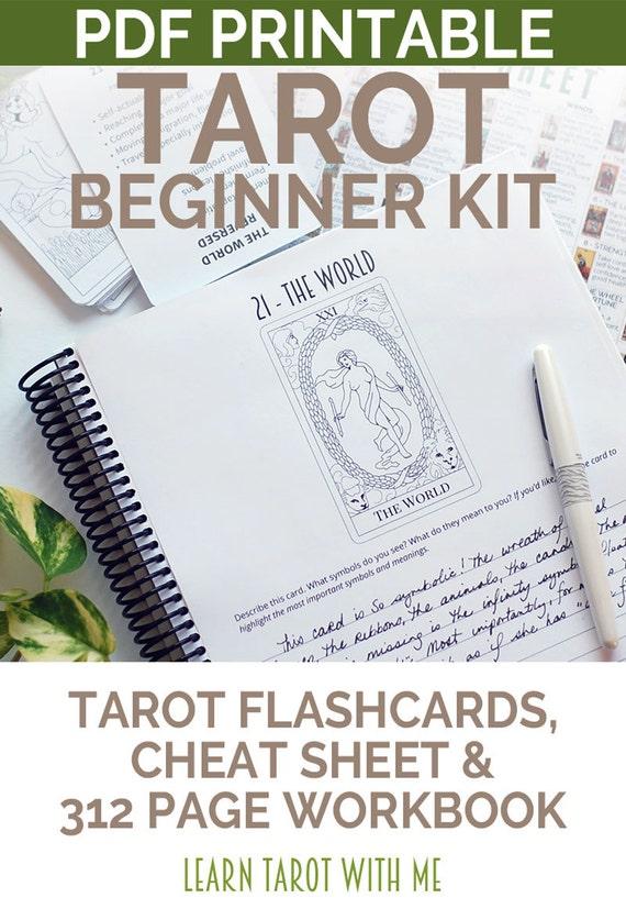 Printable Tarot Deck A Tarot Card Deck And Printable: Tarot Card Meanings Beginner's Kit With Printable Tarot