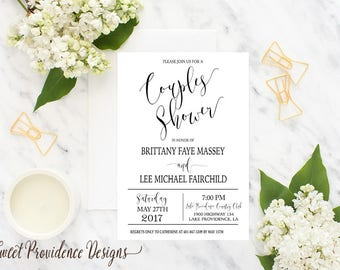 Couples Shower Invitation / Printable Couples Shower Invite/  Wedding Invitation / Rehearsal Invitation