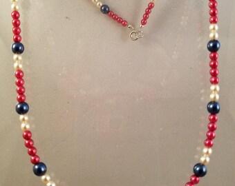 Patriotic Glass Beads
