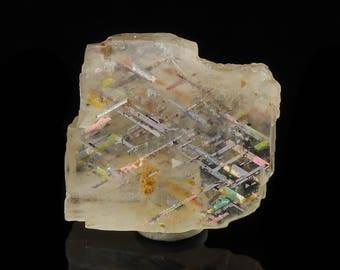 1.3cm RAINBOW LATTICE SUNSTONE from Australia - Rare Crystal, Sunstone Jewelry Making, Sunstone Cabochon, Sunstone Moonstone 36512