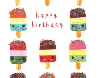 Happy Birthday Ice Lollies