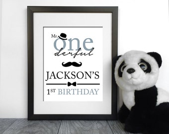 Mr ONEderful Birthday Sign | Lil Man Birthday Poster | Moustache Poster | Mr ONEderful Party | Mr ONEderful Table Sign | Lil Man Welcome