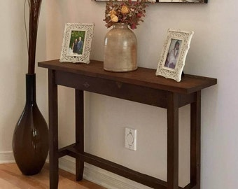 Handcrafted Rustic Solid Wood Console Table